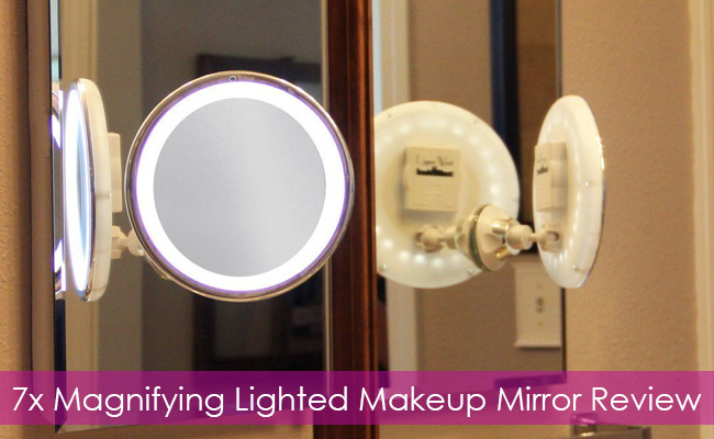 7x Magnifying Lighted Makeup Mirror by Upper West Collection Review