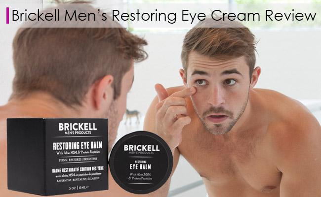 Brickell Men's Restoring Eye Cream Review