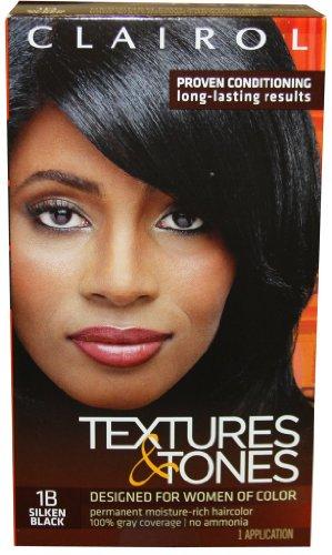 Clairol Textures & Tones * 1b - Silken Black. review