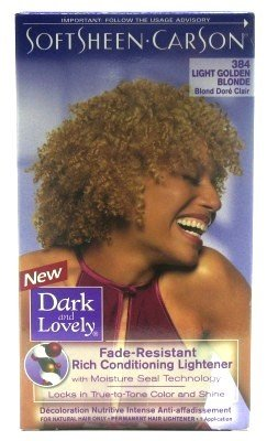 Dark and Lovely Color 384 Light Golden Blonde. review