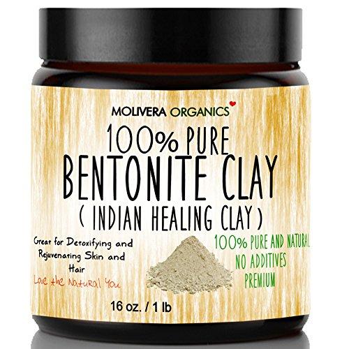 Molivera Organics Bentonite Clay for Detoxifying and Rejuvenating Skin and Hair.
