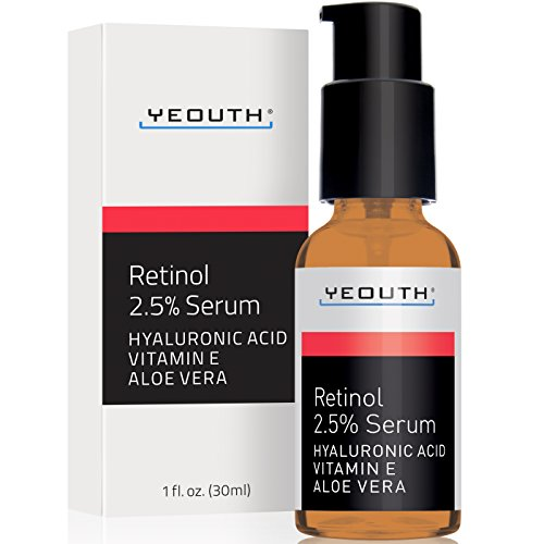 Retinol Serum 2.5% with Hyaluronic Acid, Aloe Vera, Vitamin E by Yeouth. review