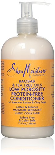 Shea Moisture Baobab & Tea Tree Oils Low Porosity Protein-Free Conditioner for Unisex