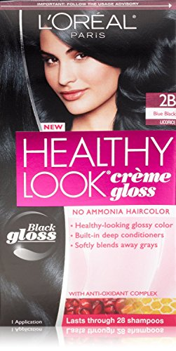3 Pk, L\'Oreal Paris Healthy Look Crème Gloss, Blue Black is review