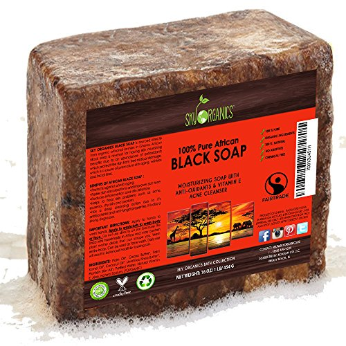 African Black Soap Raw Organic Natural Pure.