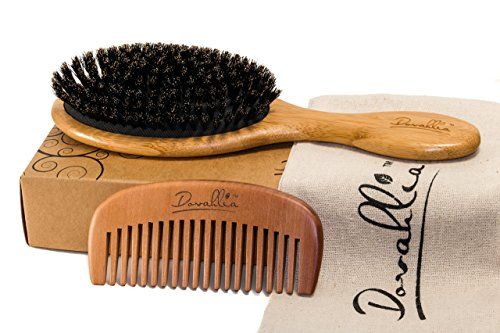 Boar Bristle Hair Brush Set for Women and Men review