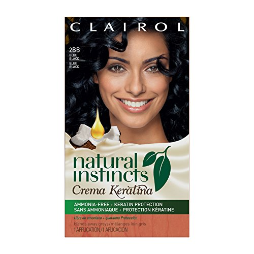 Clairol Natural Instincts Crema Keratina Hair Color Kit, Blue Black 2BB Blueberry Crème. review