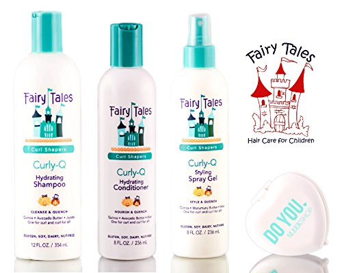 Fairy Tales CURLY Q Hydrating Shampoo, Conditioner, & Styling Spray Gel TRIO Set review