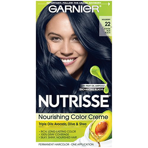 Garnier Nutrisse Nourishing Hair Color Crème, 22 Intense Blue Black review