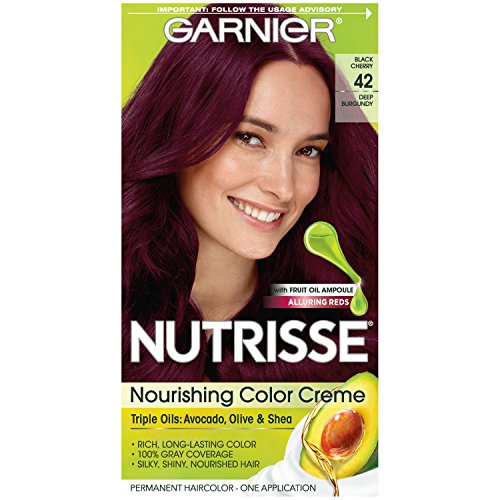 Garnier Nutrisse Nourishing Hair Color Crème, 42 Deep Burgundy (Black Cherry). review
