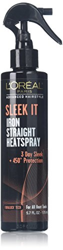 L\'Oréal Paris Advanced Hairstyle SLEEK IT Iron Straight Heatspray, review
