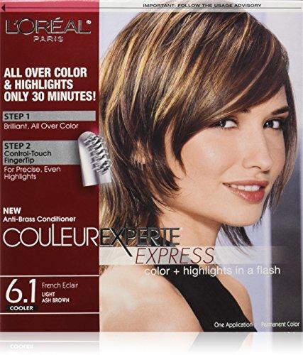 L\'Oréal Paris Couleur Experte Hair Color + Hair Highlights, Light Ash Brown - French Éclair