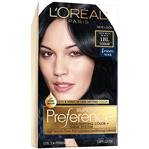 L\'Oréal Paris Superior Preference Permanent Hair Color, 1BL Deep Blue Black review