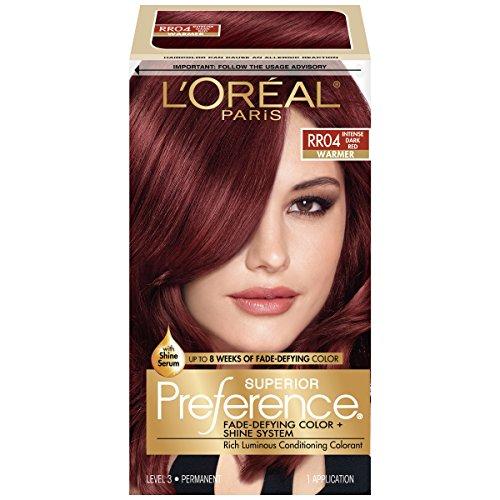 L\'Oréal Paris Superior Preference Permanent Hair Color, RR-04 Intense Dark Red review