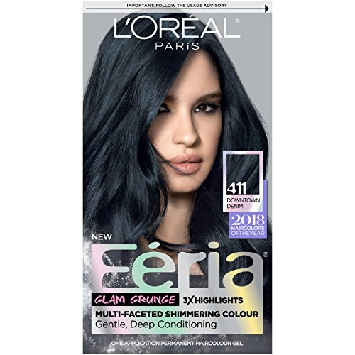 L\'Oreal Paris Hair Color Feria Permanent Hair Color, 411 Downtown Denim. review