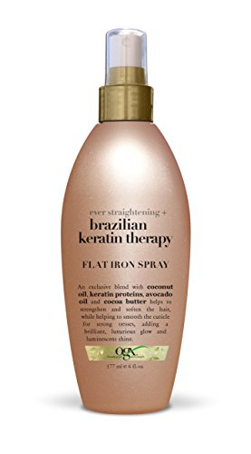 OGX Flat Iron Spray, Ever Straight Brazilian Keratin Therapy review