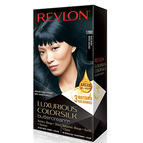 Revlon Luxurious Colorsilk Buttercream, Blue Black review