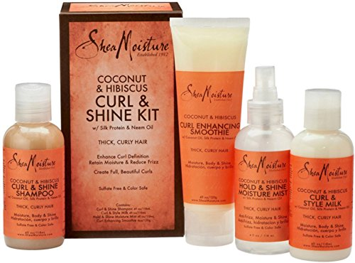 SheaMoisture 1 count Coconut & Hibiscus Curl & Shine Kit review