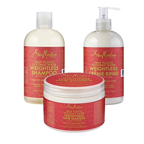 SheaMoisture Fruit Fusion Coconut Water Weightless Combo review