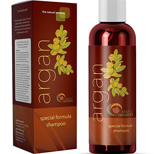 Argan Oil Shampoo, Sulfate Free, 8 oz. - With Argan, Jojoba, Avocado, Almond, Peach Kernel, Camellia Seed, and Keratin review