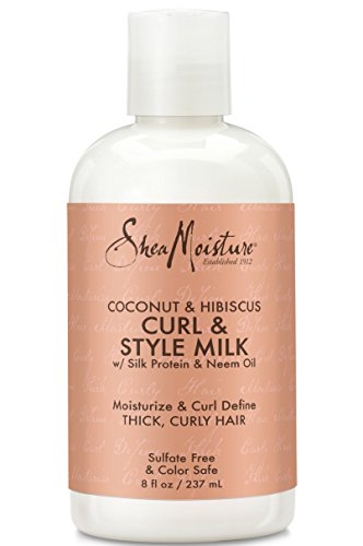 Shea Moisture Coconut & Hibiscus Curl & Style Milk review