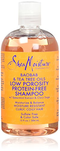 Shea Moisture Low Porosity Protein Free Shampoo, review