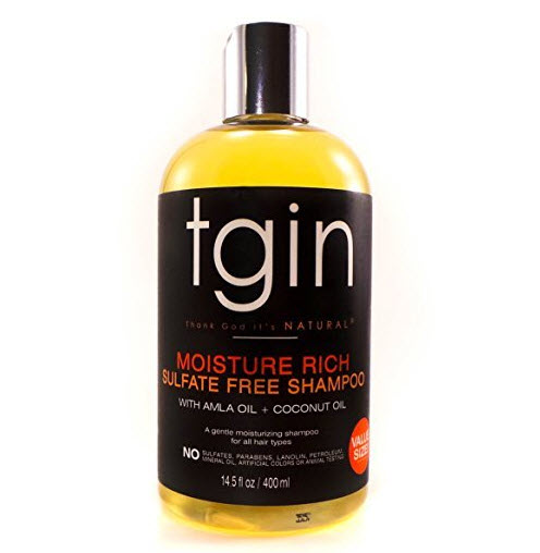 Tgin Moisture Rich Sulfate Free Shampoo for Natural Hair review