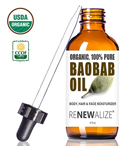 USDA Certified Organic Baobab Oil - in 4 oz. Dark Glass Bottle with Dropper review