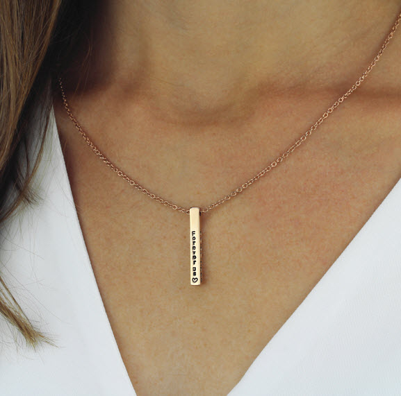 custom name engraved necklace