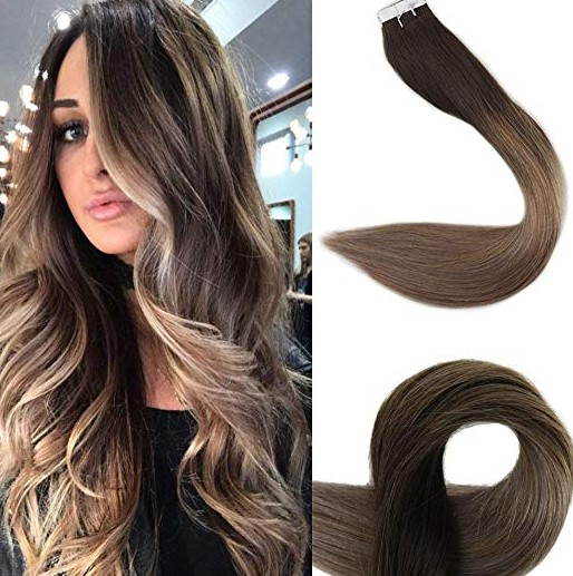 Fshine 24 Seamless Skin Weft Hair Extensions Ombre