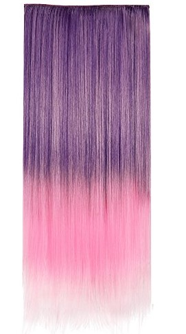Full Head Synthetic Hair Extensions by Ecvtop